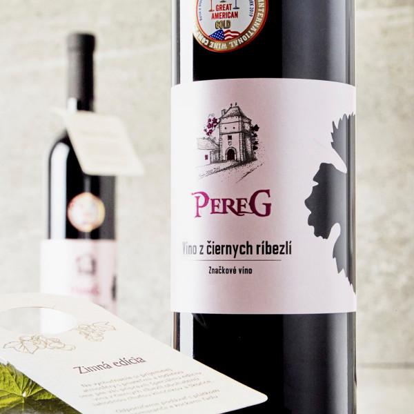 Víno z čiernych ríbezlí 0,75 l PEREG
