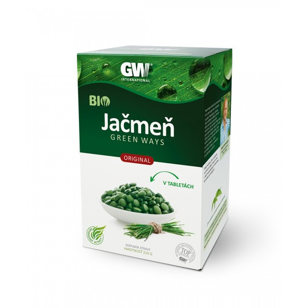 Jačmeň  GREEN WAYS ORIGINAL v tabletách  210 g